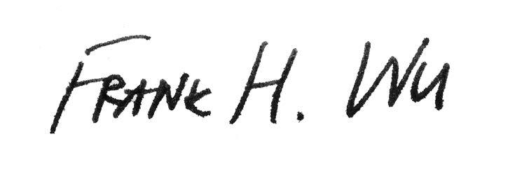 President Frank H. Wu signature