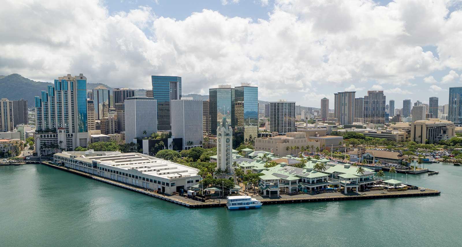 Panoramic View of HPU's Aloha Tower Marketplace